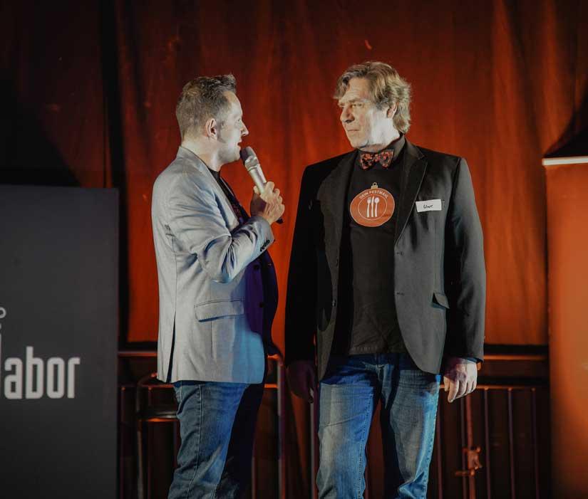 Mario Roggow und Uwe Rohde im Gespräch